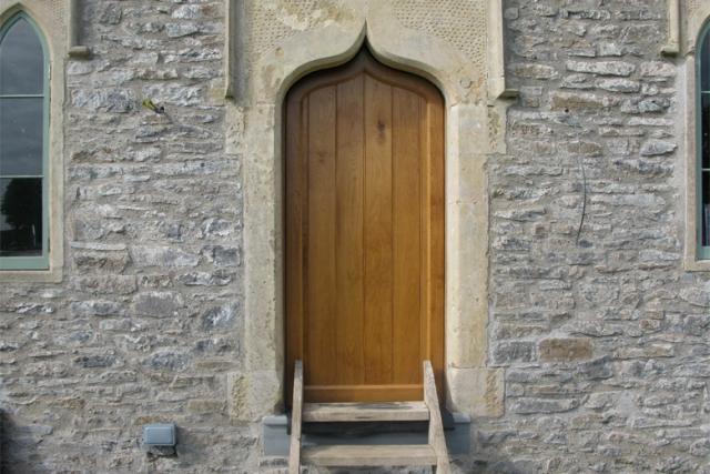 Gothic Doorway. Fernhill Farm, Somerset