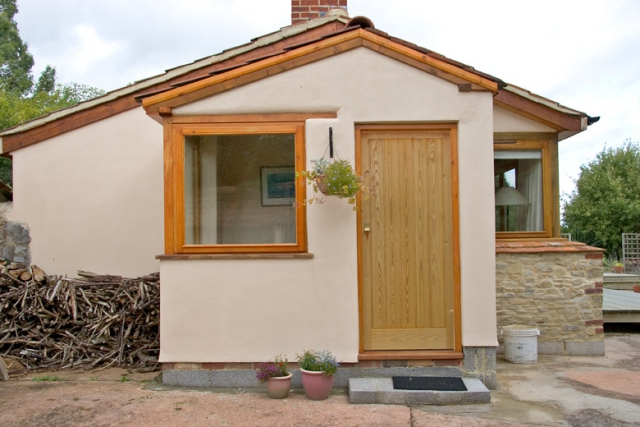 Porch extension in holiday annex