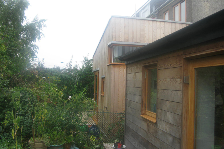 Timber framed rear extension