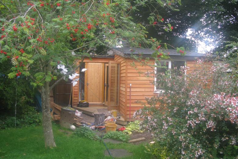 Timber garden studio