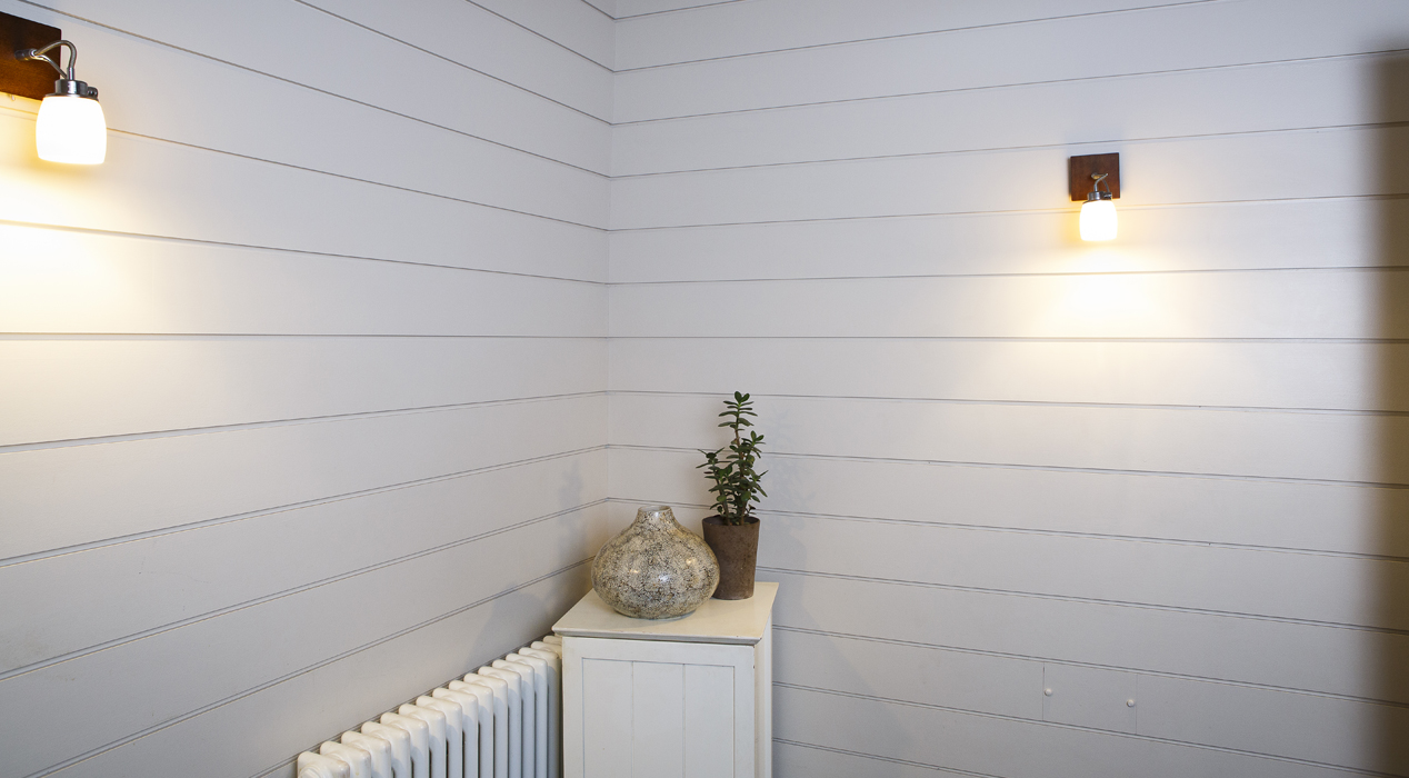 White panelling by Haldor Construction